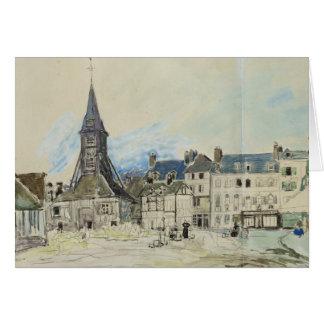L'église de Sainte-Catherine, Honfleur, 1864 Carte De Vœux