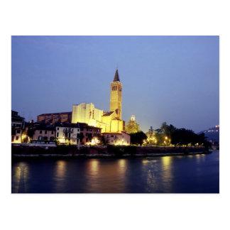 L'église de Sant'Anastasia à Vérone, Italie Carte Postale