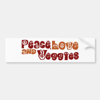 Légume d'amour de paix autocollant de voiture