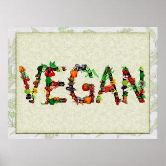 Légumes végétaliens poster