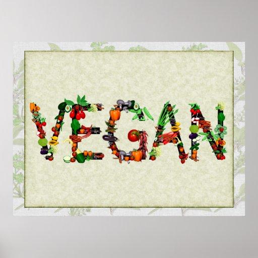 Légumes végétaliens posters