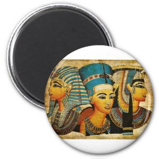 L'Egypte antique 3 Magnet Rond 8 Cm