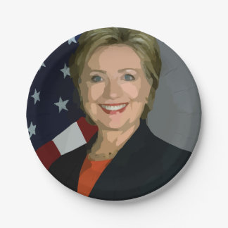 """L'élection 2016 de Hillary Clinton plaque 7"""" Assiettes En Papier"""