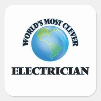 L'électricien le plus intelligent du monde sticker carré