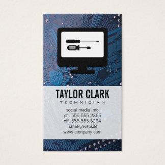 L'électronique de matériel cartes de visite
