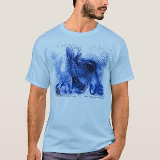 l'éléphant bleu w/tear SAUVENT le T-shirt des USA