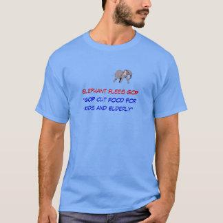 """L'éléphant nourriture de coupes se sauve GOP """"pour T-shirt"""