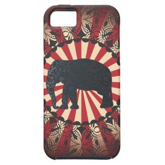 L'éléphant vintage de cirque de StellaRoot Coque Tough iPhone 5
