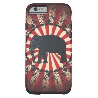 L'éléphant vintage de cirque de StellaRoot Coque iPhone 6 Tough