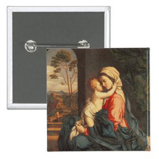 L'embrassement de Vierge et d'enfant Pin's