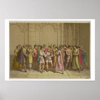 L'empereur de Cuzco épousant deux courtisans, sud Posters