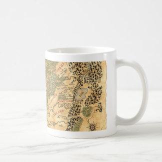 L'empire - carte du monde mug à café