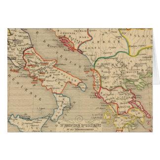 L'Empire d'Orient, l'Italie, 1200 un 1300 Carte De Vœux
