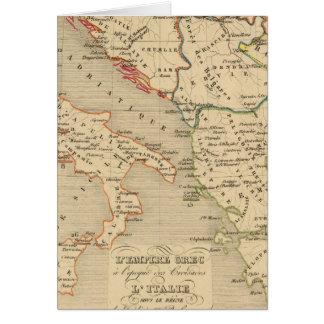 L'Empire Grec, l'Italie, 1125 un 1200 Carte De Vœux