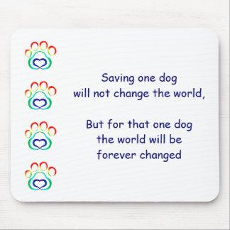 L'empreinte de patte Mousepad, sauvent un chien Tapis De Souris