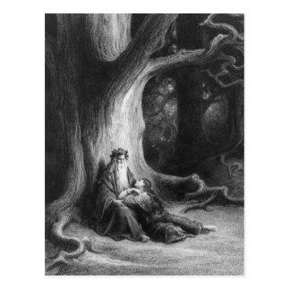 L'Enchanter MERLIN et Vivien féerique Carte Postale