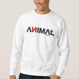 L'encolure ras du cou animale des hommes sweatshirt