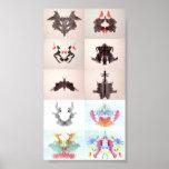 L'encre d'essai de Rorschach éponge chacun des 10  Posters