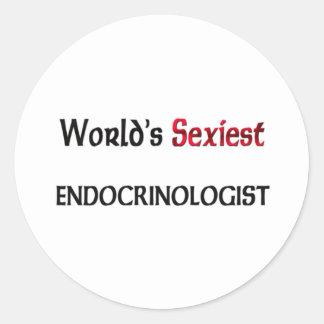 L'endocrinologue le plus sexy du monde autocollants ronds