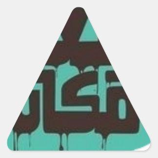 L'endroit le plus lointain sticker triangulaire