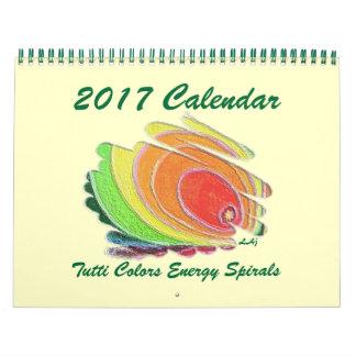 L'énergie colorée par art de 2017 calendriers se