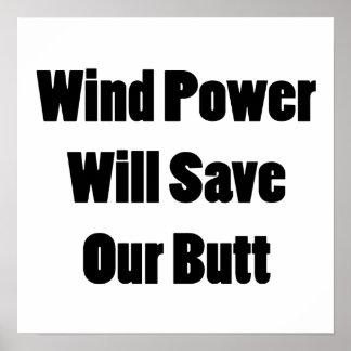 L'énergie éolienne sauvera notre bout affiche