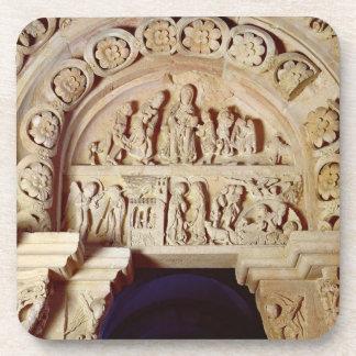L'enfance du Christ, tympan de portail droit, Dessous-de-verre