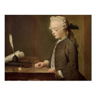 L'enfant avec un Teetotum Carte Postale