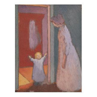 L'enfant dans la porte, 1897 carte postale
