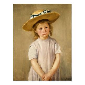 L'enfant de Cassatt dans le chapeau de paille - Carte Postale