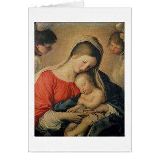 L'enfant de sommeil du Christ (huile sur la toile) Cartes