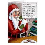 L'enfant drôle suborne la carte de Noël de Père No