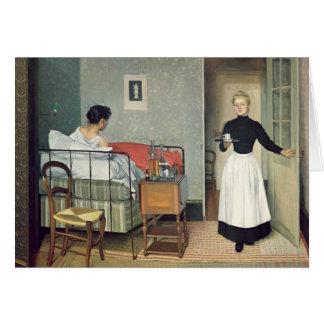 L'enfant malade 1892 carte de vœux