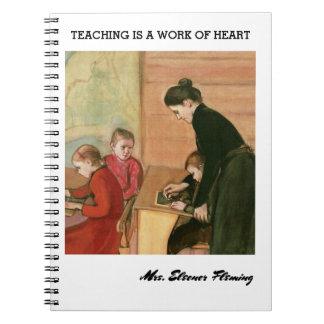 L'enseignement est un travail de carnet de cadeau