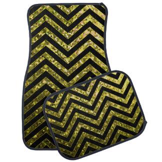 L'ensemble de tapis de voiture zigzaguent texture