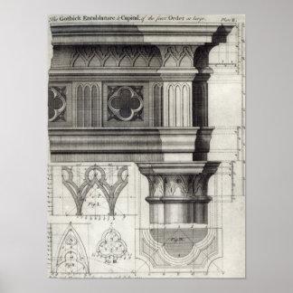 L'Entablature gothique Poster