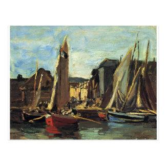 L'entrée au port de Honfleur Eugene Boudin Carte Postale