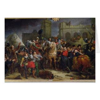 L'entrée de Henri IV dans Paris Carte De Vœux