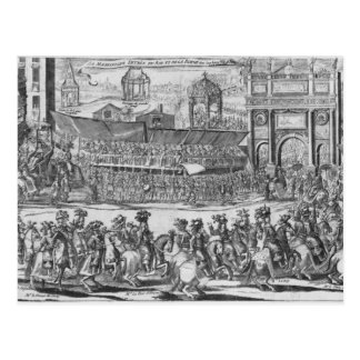 L'entrée de Louis XIV et de Marie-Therese Carte Postale