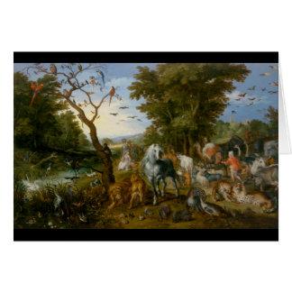 L'entrée des animaux dans l'arche 1613 de Noé Cartes