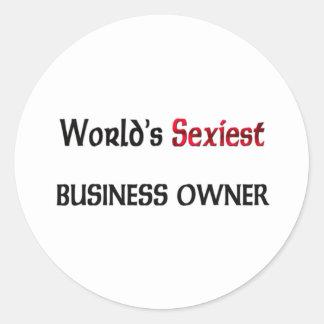 L'entrepreneur le plus sexy du monde sticker rond
