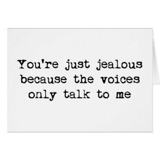 L'entretien de voix seulement à moi carte de vœux