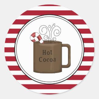 L'enveloppe chaude de vacances de cacao scelle des sticker rond