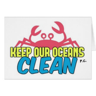 L'environnement gardent notre slogan propre cartes