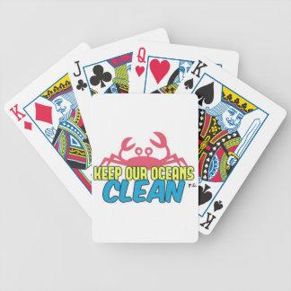 L'environnement gardent notre slogan propre jeu de cartes