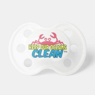 L'environnement gardent notre slogan propre tétine