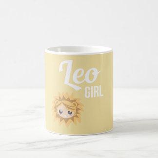 Leo Girl Mug Blanc