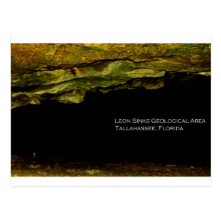 Léon descend le secteur géologique carte postale