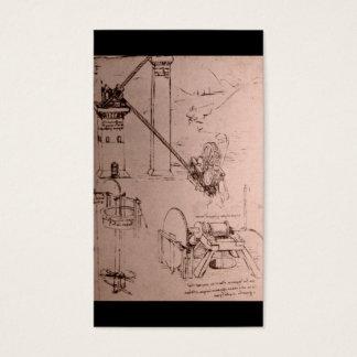 Leonardo da Vinci, dessins des machines Cartes De Visite