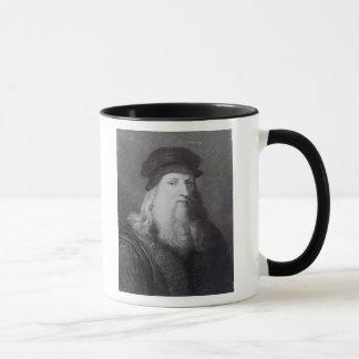 Leonardo da Vinci, gravé par Raphael Mug